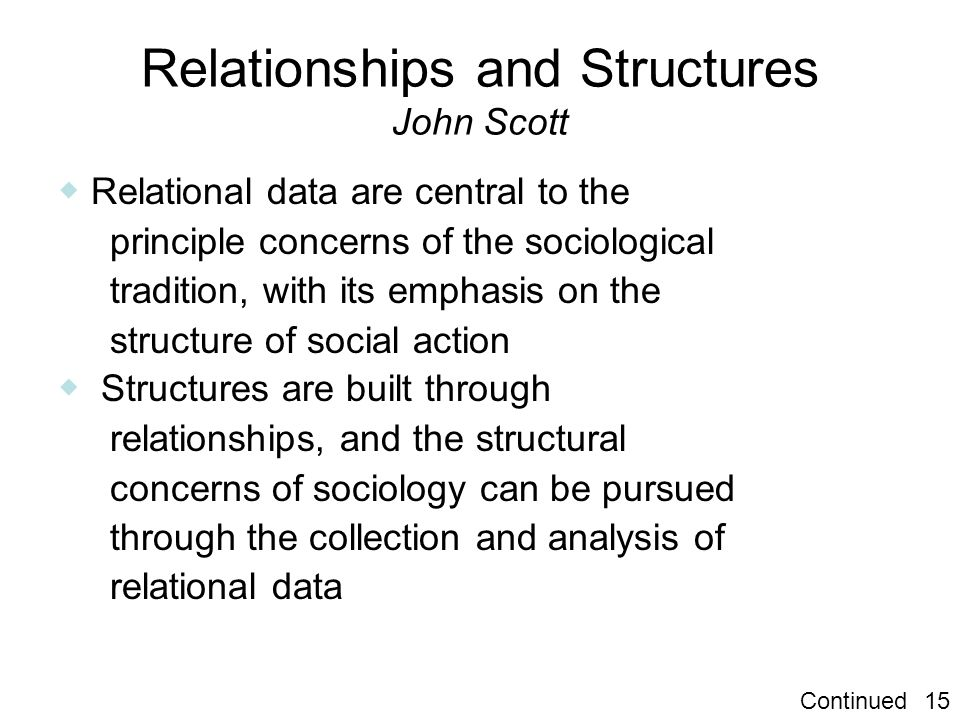 Relationships and Structures John Scott