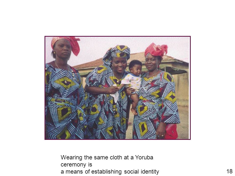 Wearing the same cloth at a Yoruba ceremony is