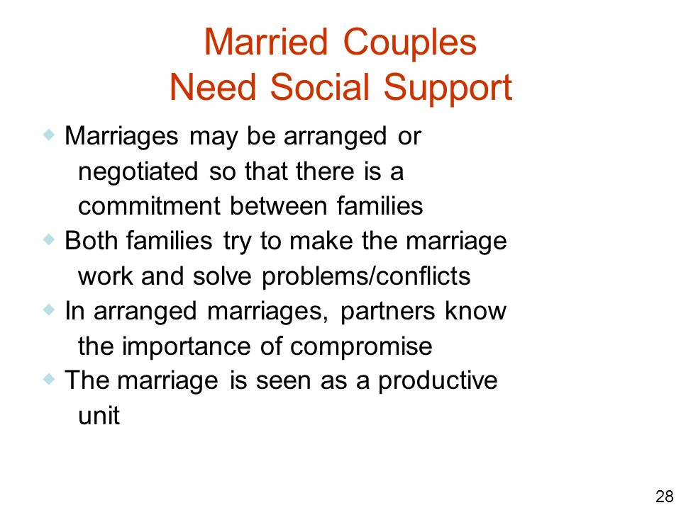 Married Couples Need Social Support