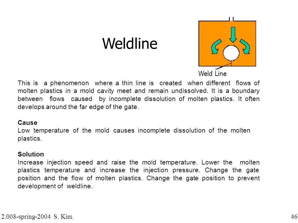 Weldline Weld Line.