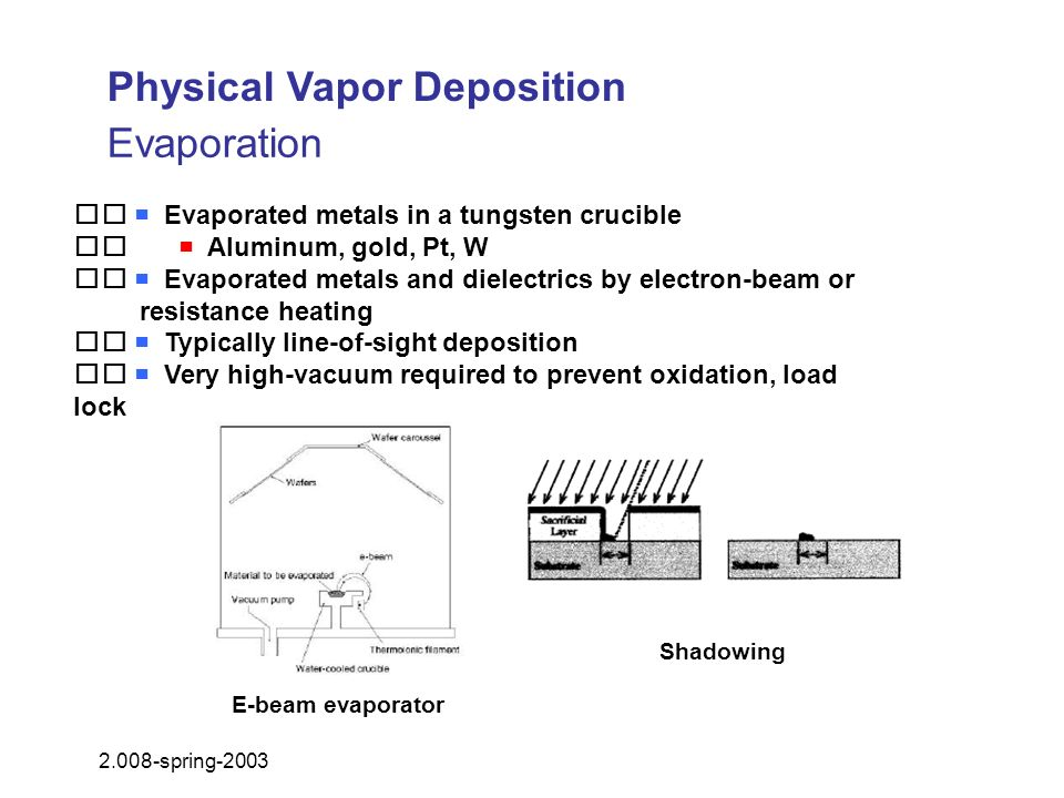 Physical Vapor Deposition Evaporation