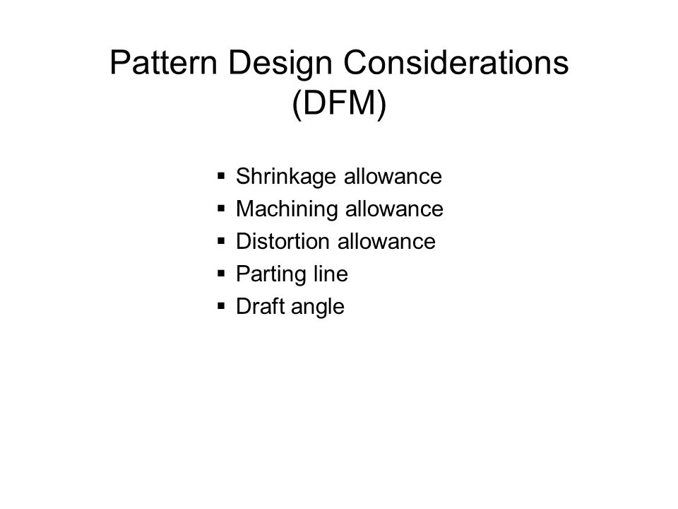 Pattern Design Considerations