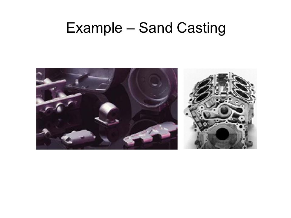 Example – Sand Casting