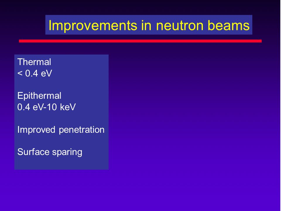 Improvements in neutron beams