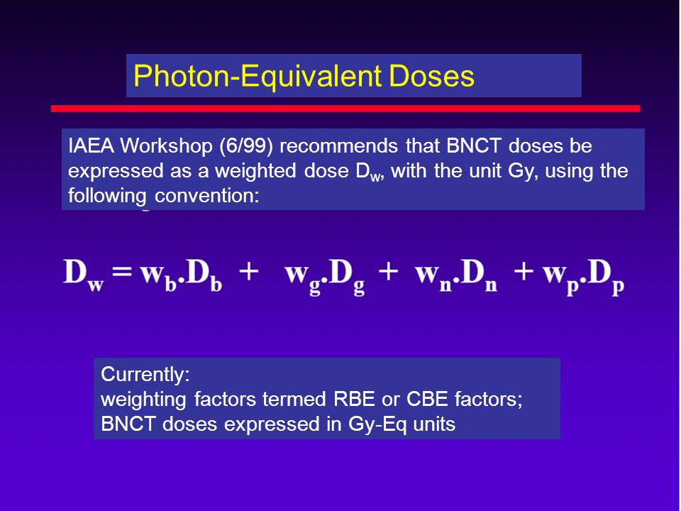 Photon-Equivalent Doses
