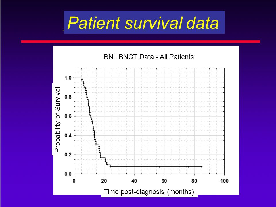 Patient survival data BNL BNCT Data - All Patients