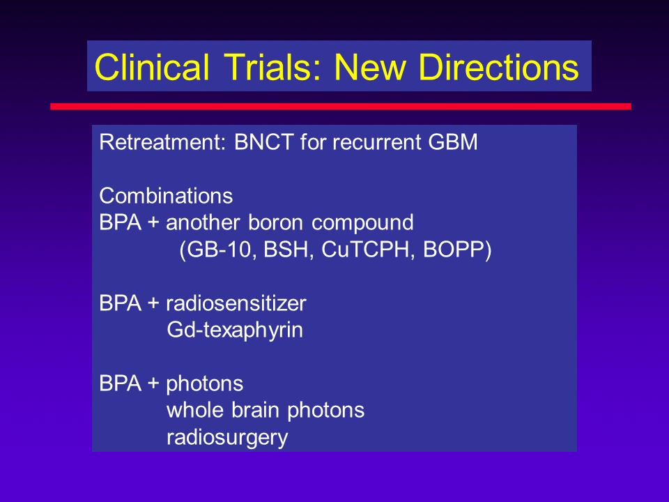 Clinical Trials: New Directions