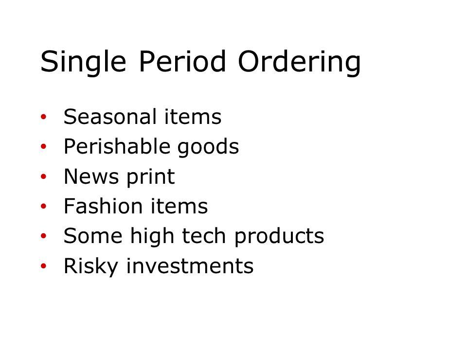 Single Period Ordering