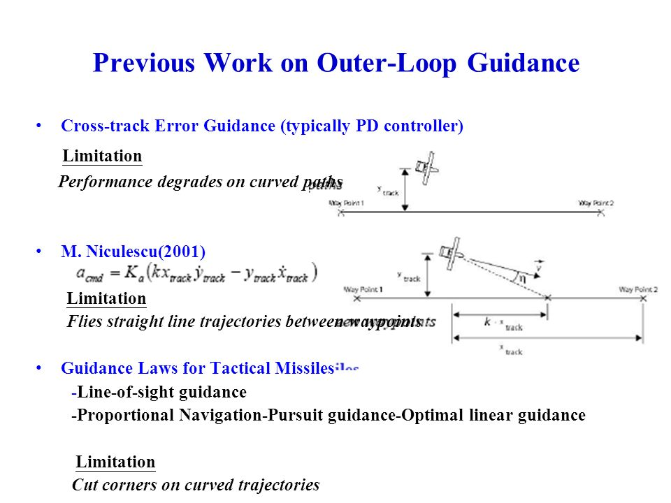 Previous Work on Outer-Loop Guidance