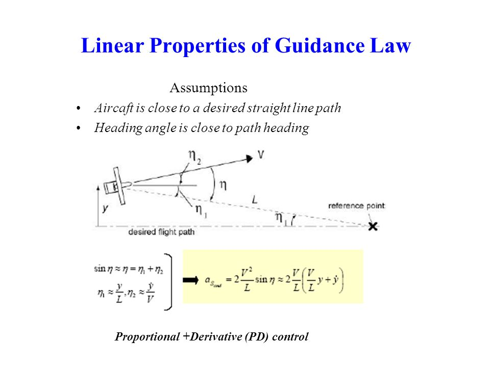 Linear Properties of Guidance Law