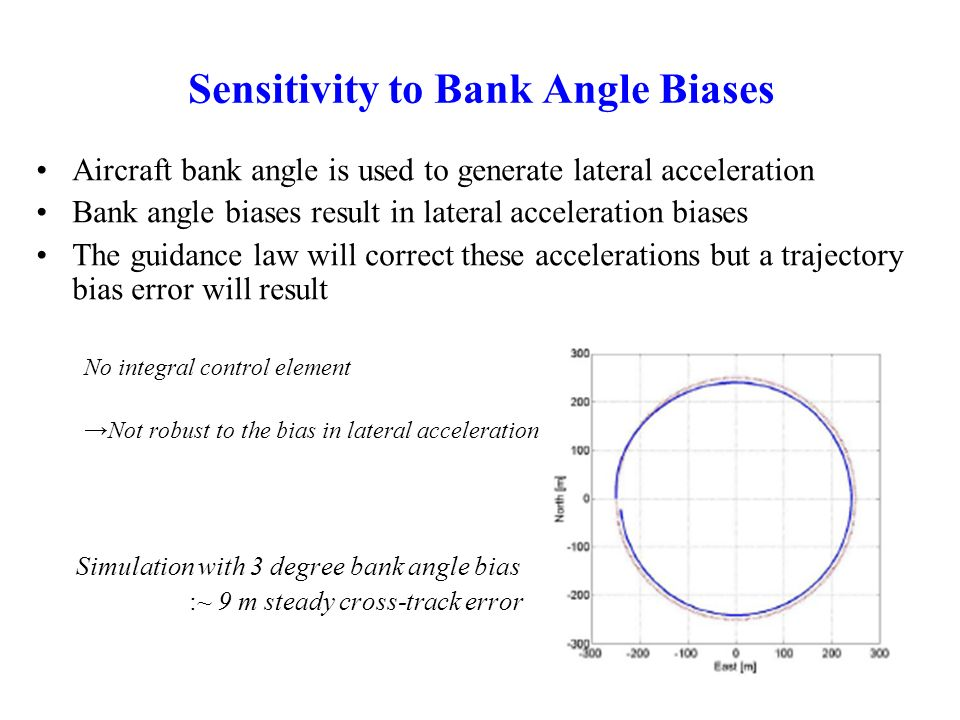 Sensitivity to Bank Angle Biases