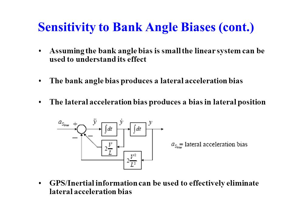 Sensitivity to Bank Angle Biases (cont.)