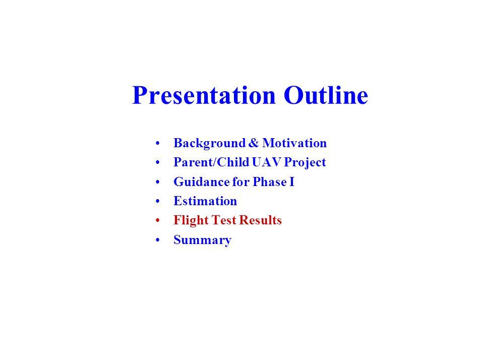 Presentation Outline Background & Motivation Parent/Child UAV Project