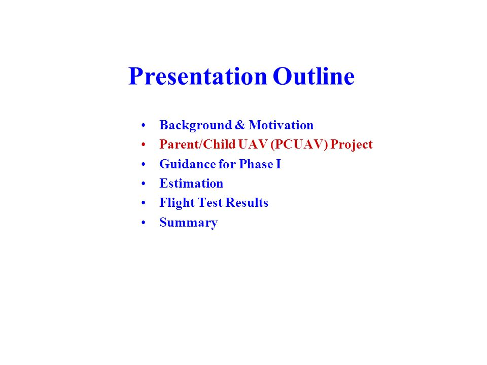 Presentation Outline Background & Motivation