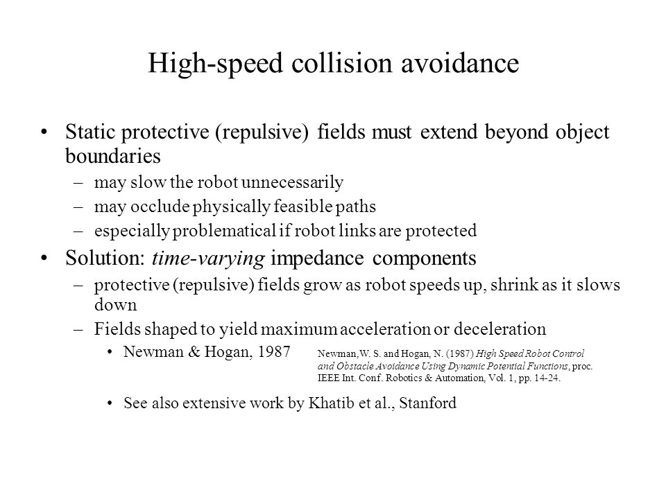 High-speed collision avoidance