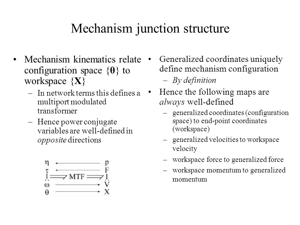 Mechanism junction structure