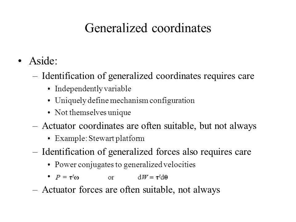 Generalized coordinates