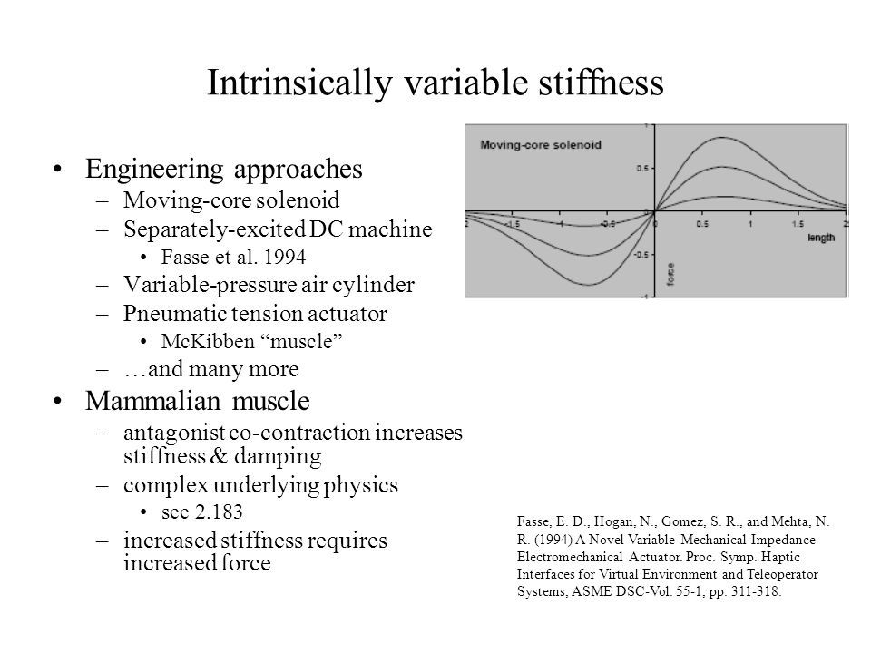 Intrinsically variable stiffness