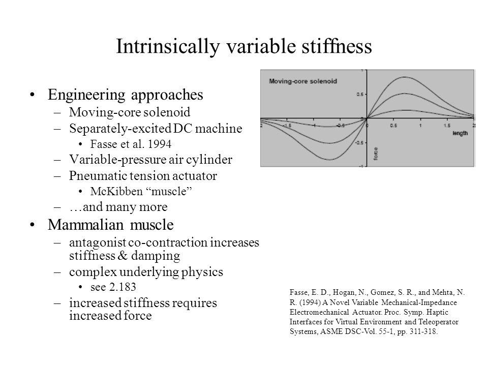 Intrinsically variable stiffness