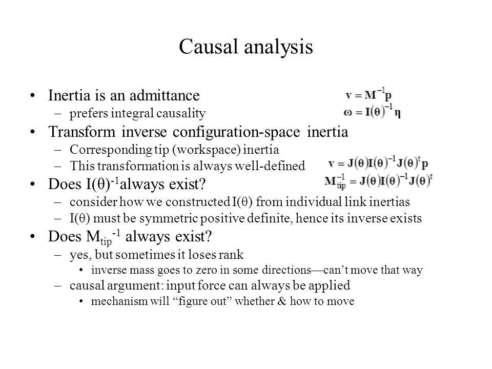 Causal analysis Inertia is an admittance