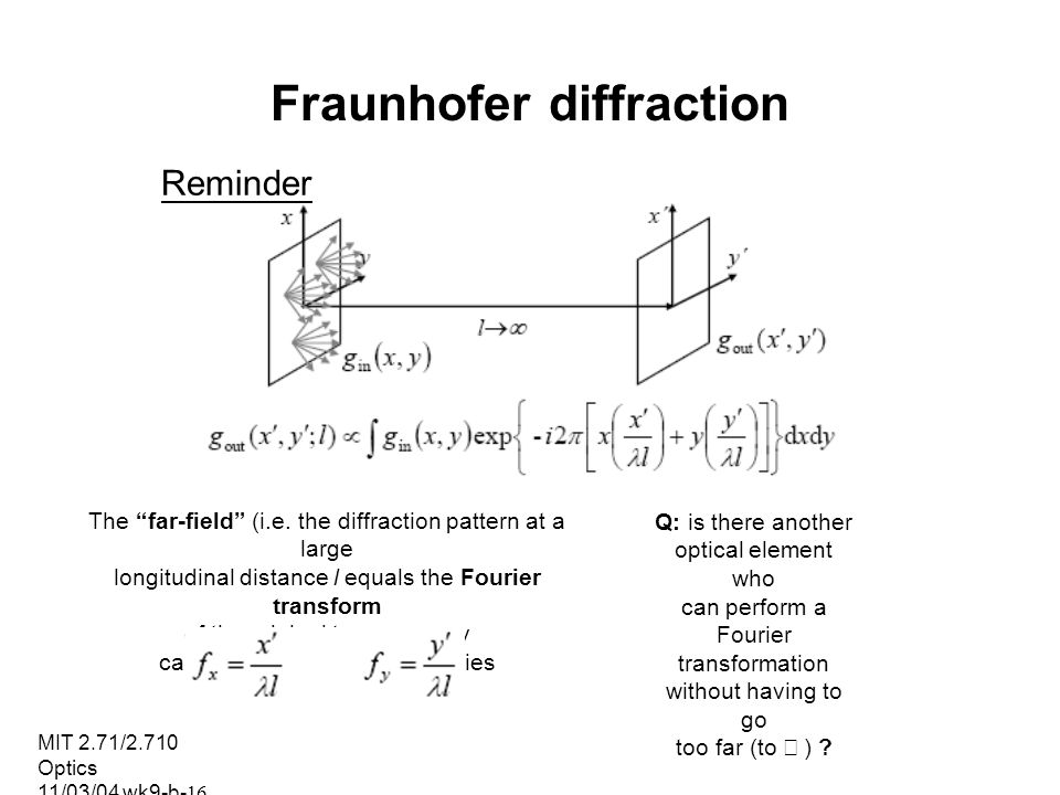 Fraunhofer diffraction