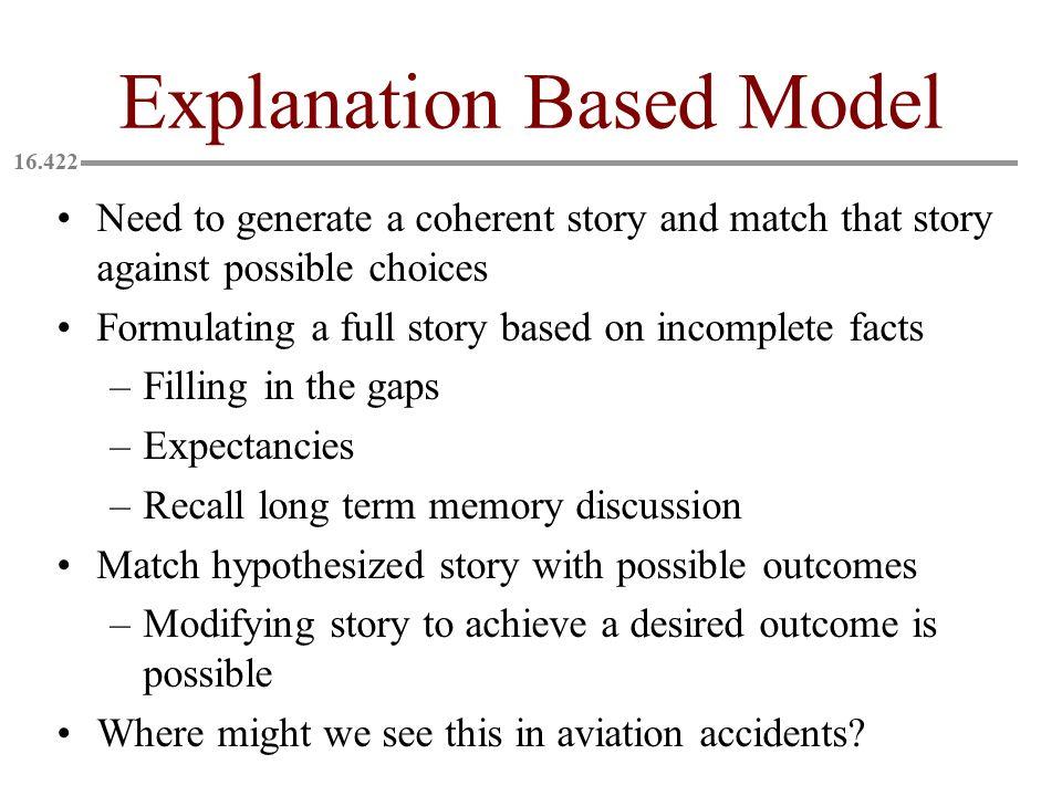 Explanation Based Model