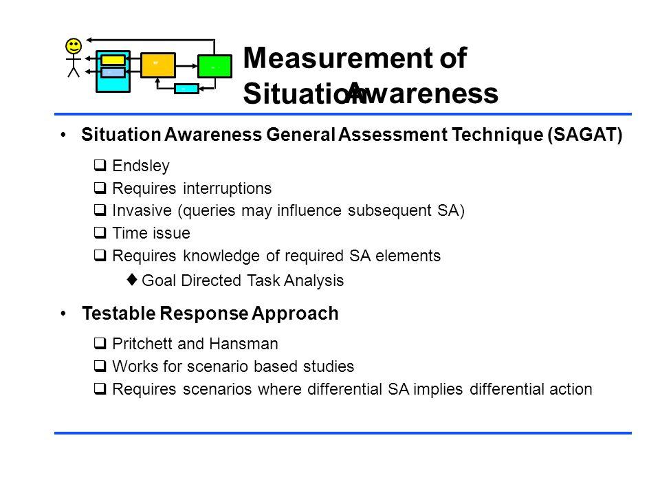 Measurement of Situation Awareness