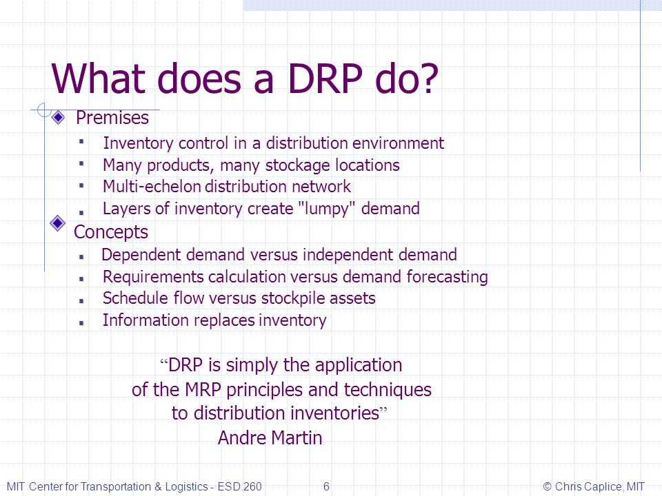 What does a DRP do Premises DRP is simply the application