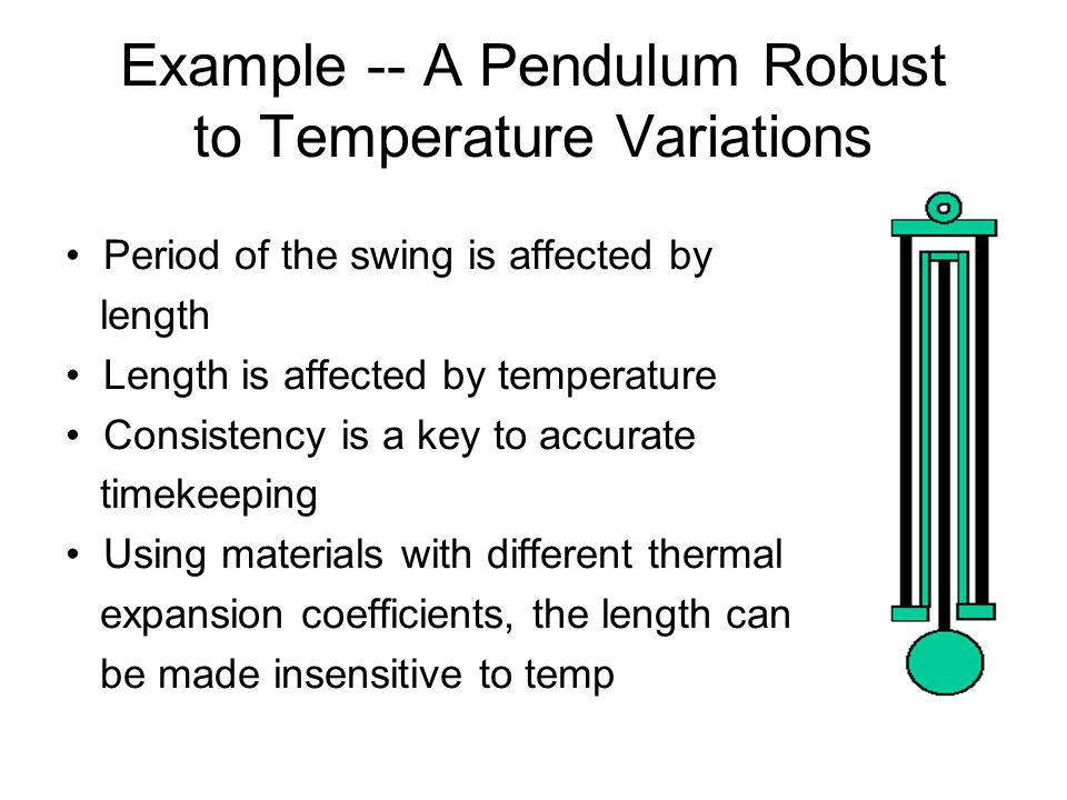 Example -- A Pendulum Robust to Temperature Variations