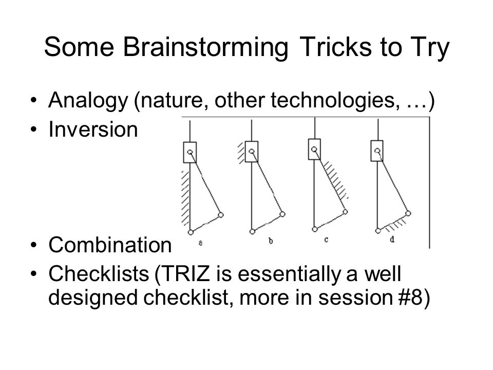 Some Brainstorming Tricks to Try