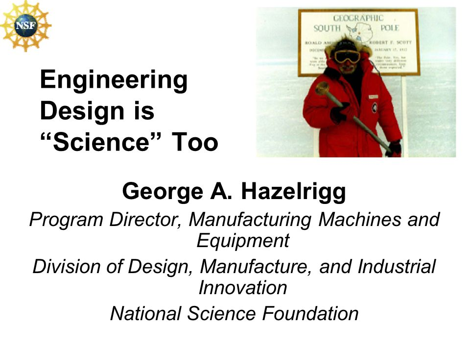 Engineering Design is Science Too