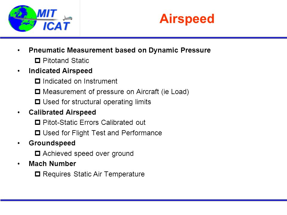 Airspeed Pneumatic Measurement based on Dynamic Pressure