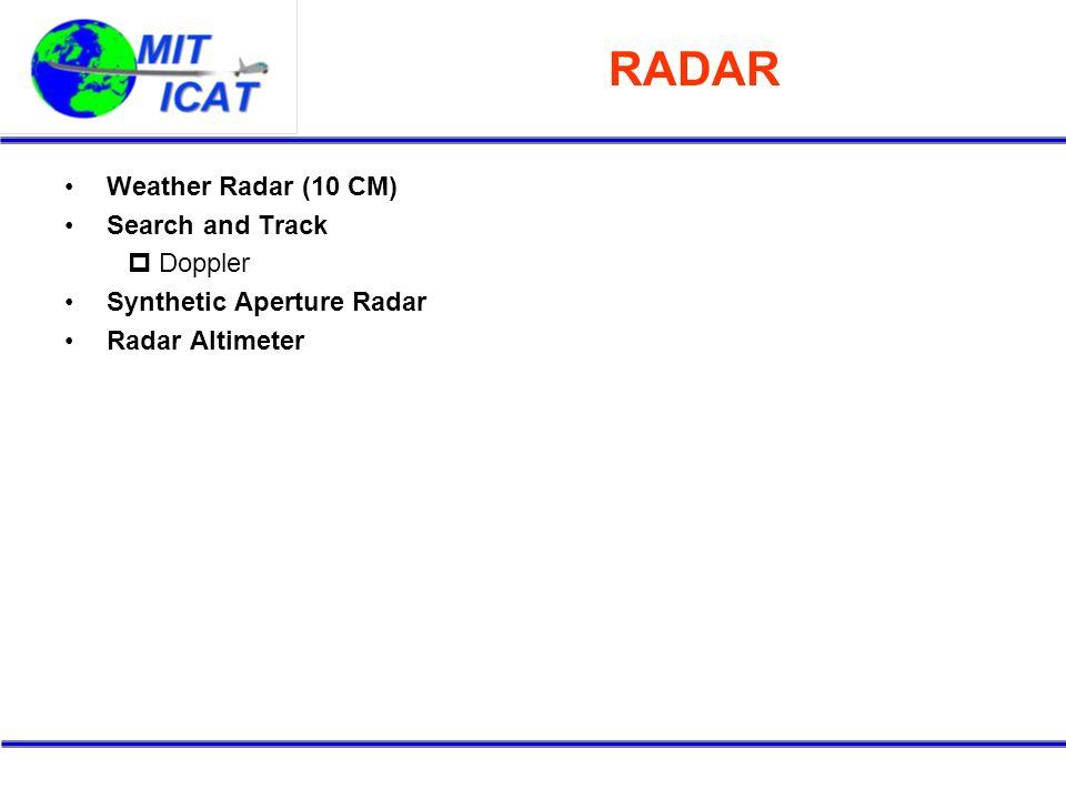 RADAR Weather Radar (10 CM) Search and Track Doppler
