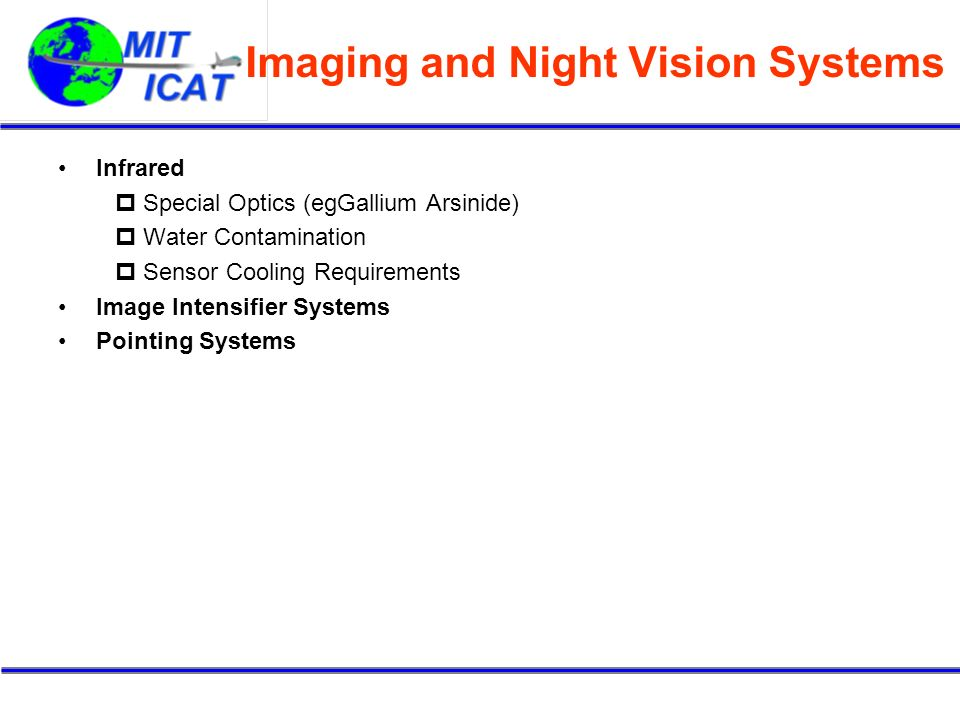 Imaging and Night Vision Systems