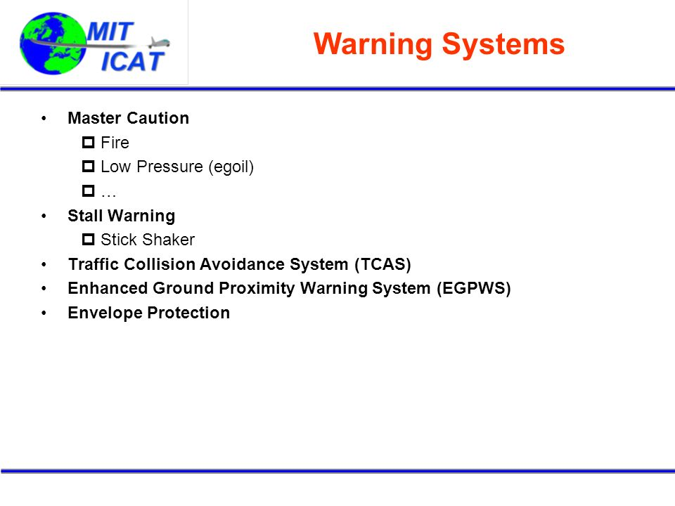 Warning Systems Master Caution Fire Low Pressure (egoil) …