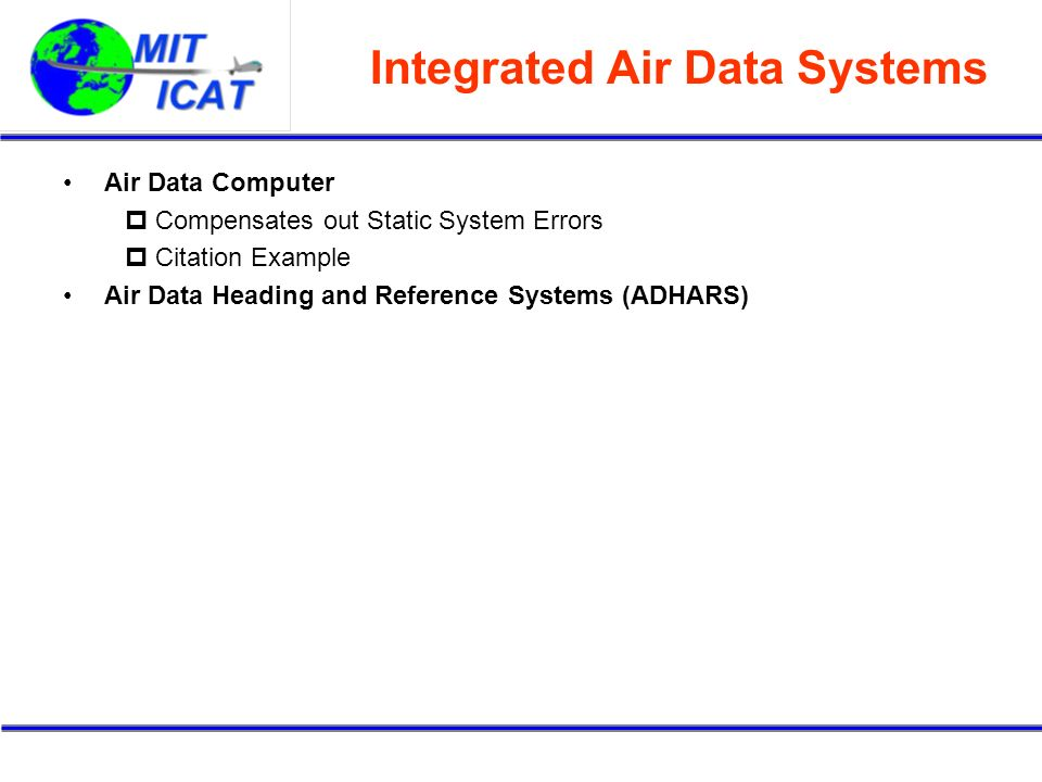 Integrated Air Data Systems