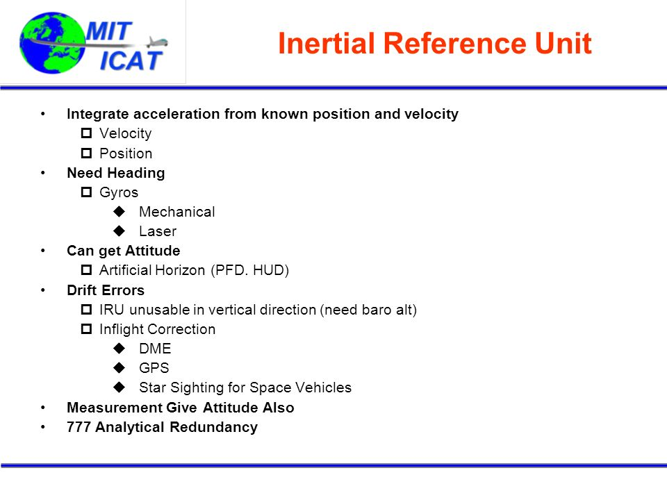 Inertial Reference Unit