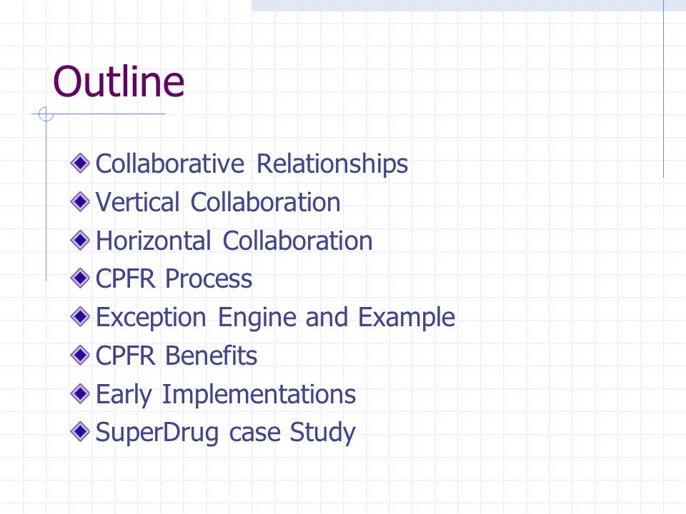 Outline Collaborative Relationships Vertical Collaboration