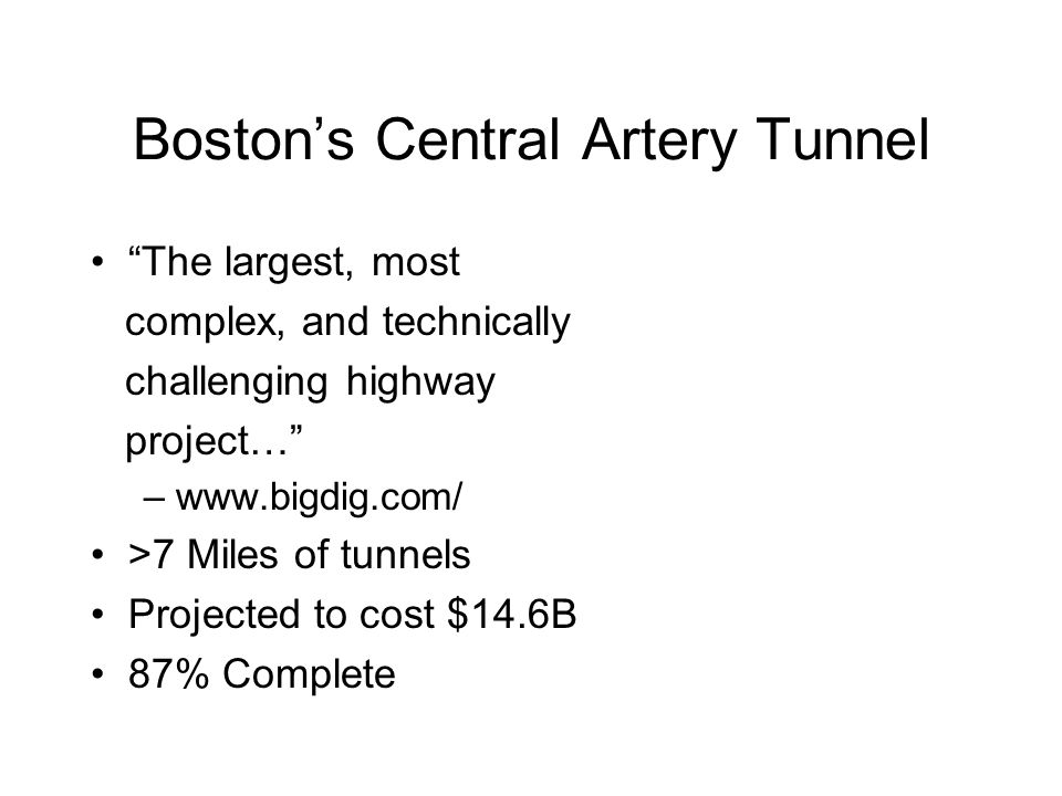 Boston's Central Artery Tunnel