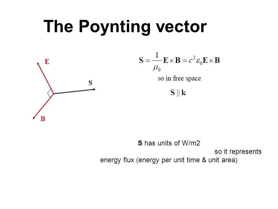 energy flux (energy per unit time & unit area)