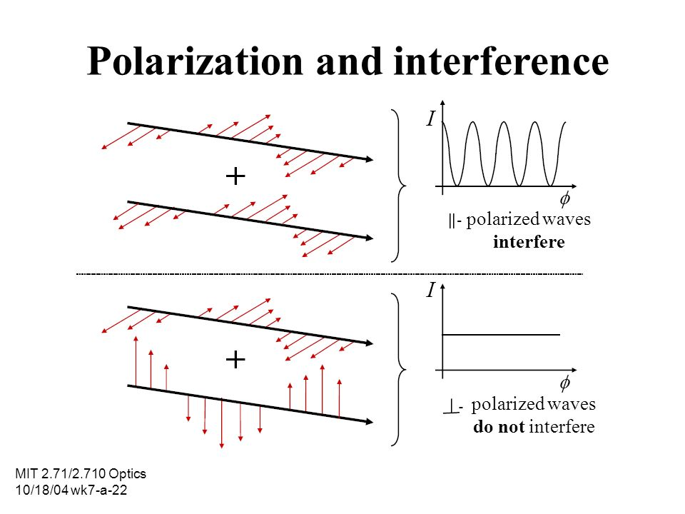 Polarization and interference