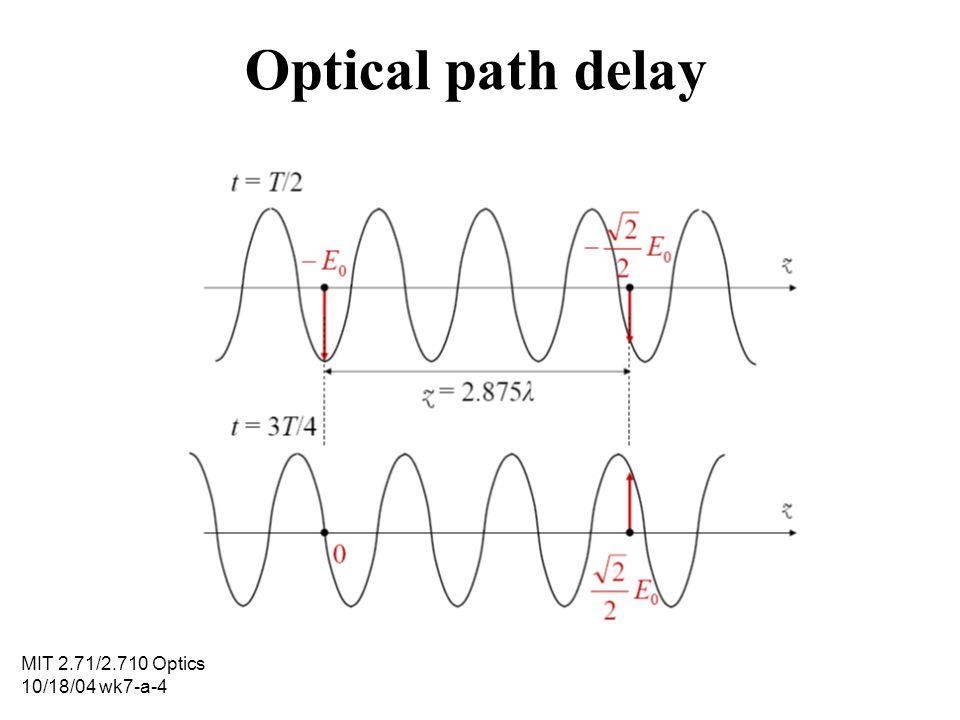 Optical path delay MIT 2.71/2.710 Optics 10/18/04 wk7-a-4