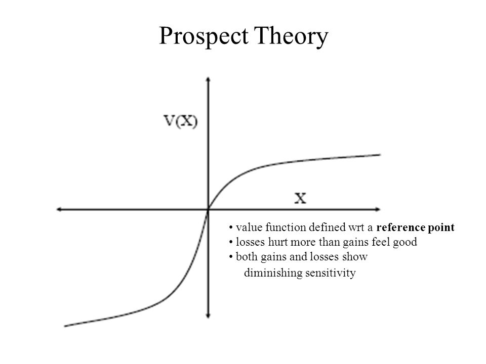Prospect Theory • value function defined wrt a reference point