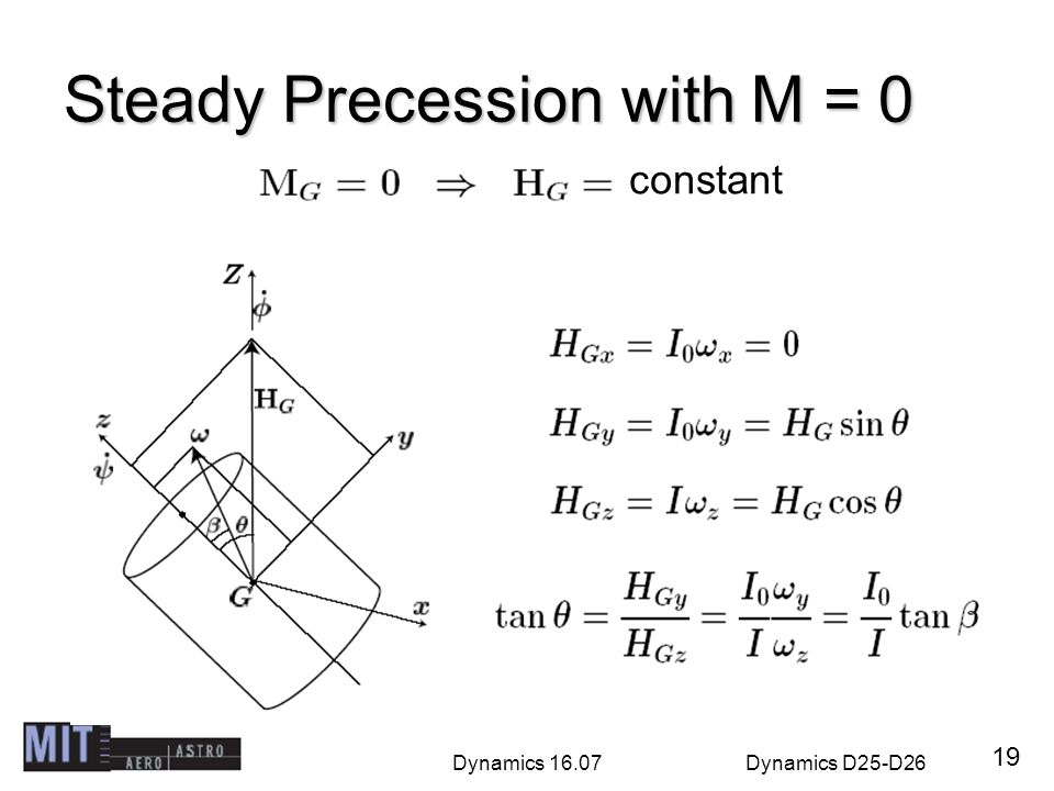 Steady Precession with M = 0