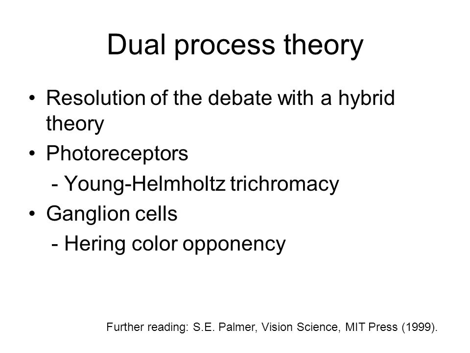 Dual process theory Resolution of the debate with a hybrid theory