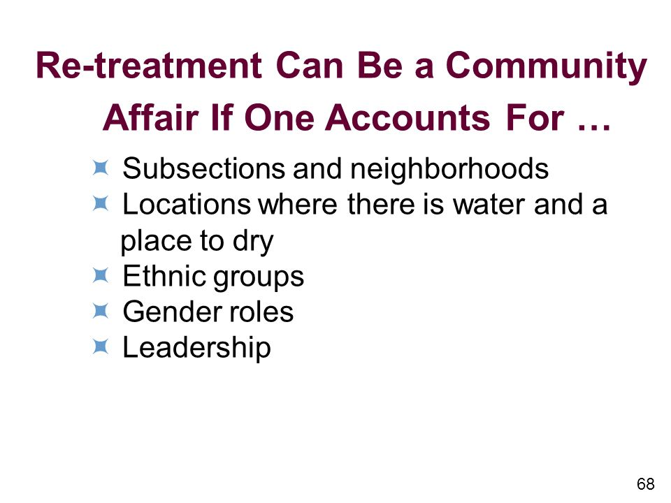 Re-treatment Can Be a Community Affair If One Accounts For …
