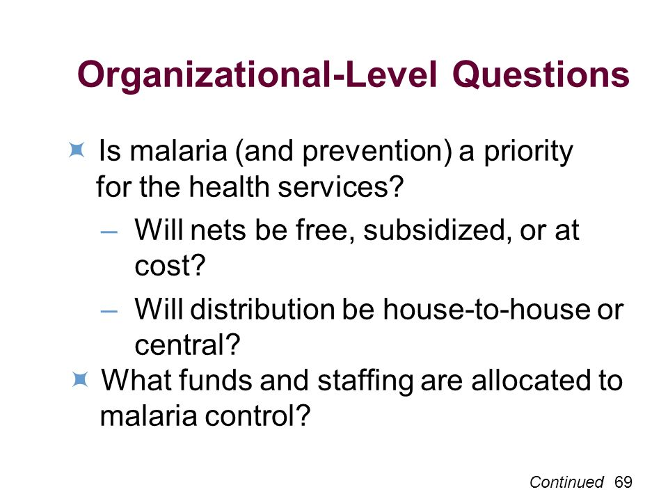 Organizational-Level Questions