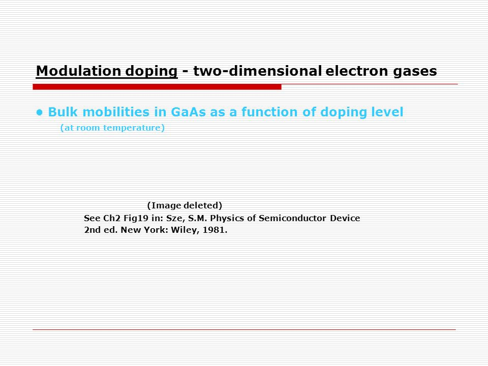 Modulation doping - two-dimensional electron gases