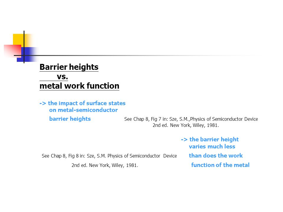 -> the barrier height