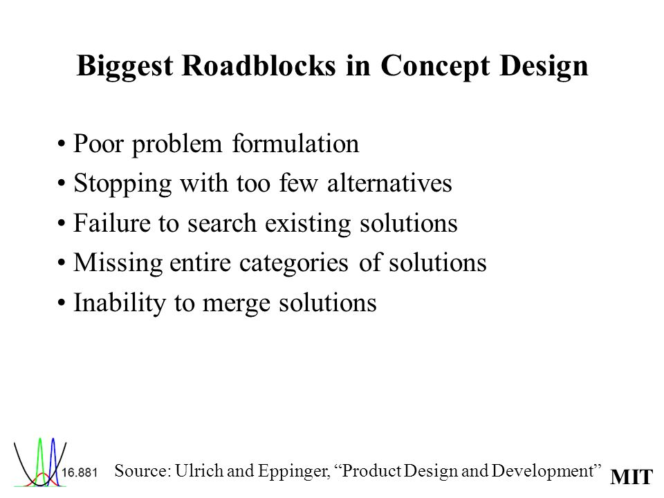 Biggest Roadblocks in Concept Design